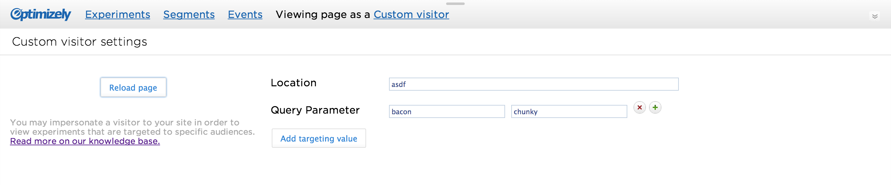 Almost final screenshot of adding custom visitor attributes