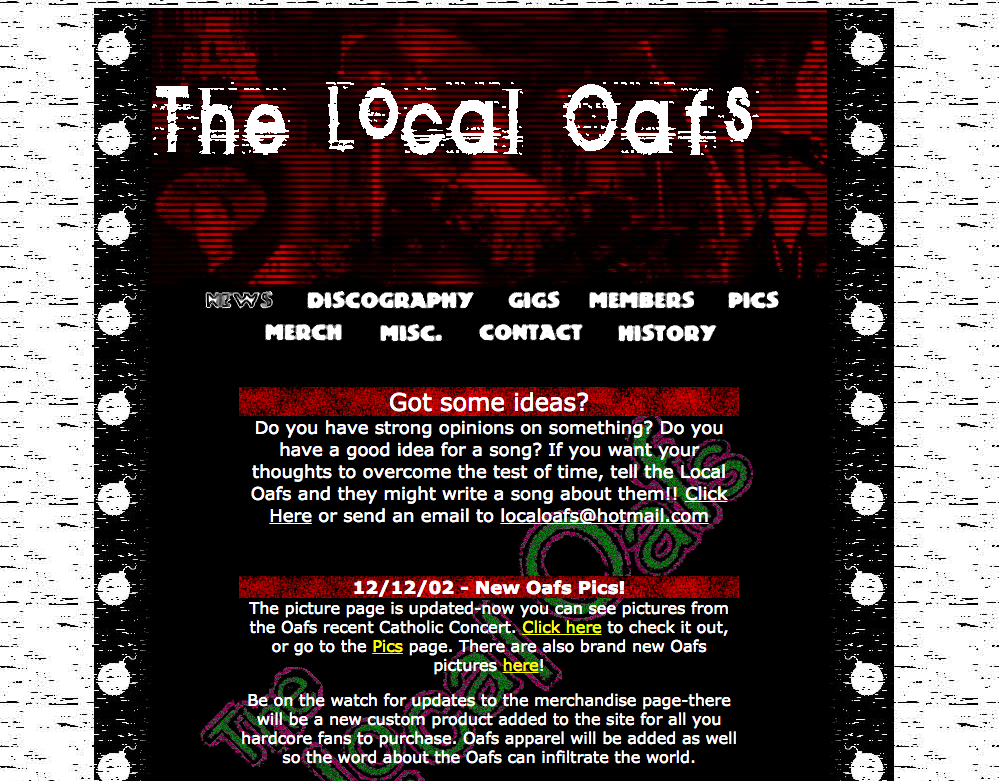 Local Oafs homepage