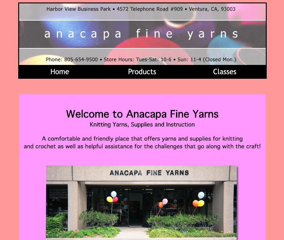 Anacapa Fine Yarns homepage