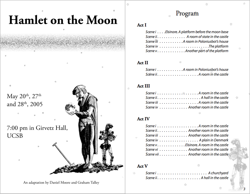 Hamlet on the Moon program