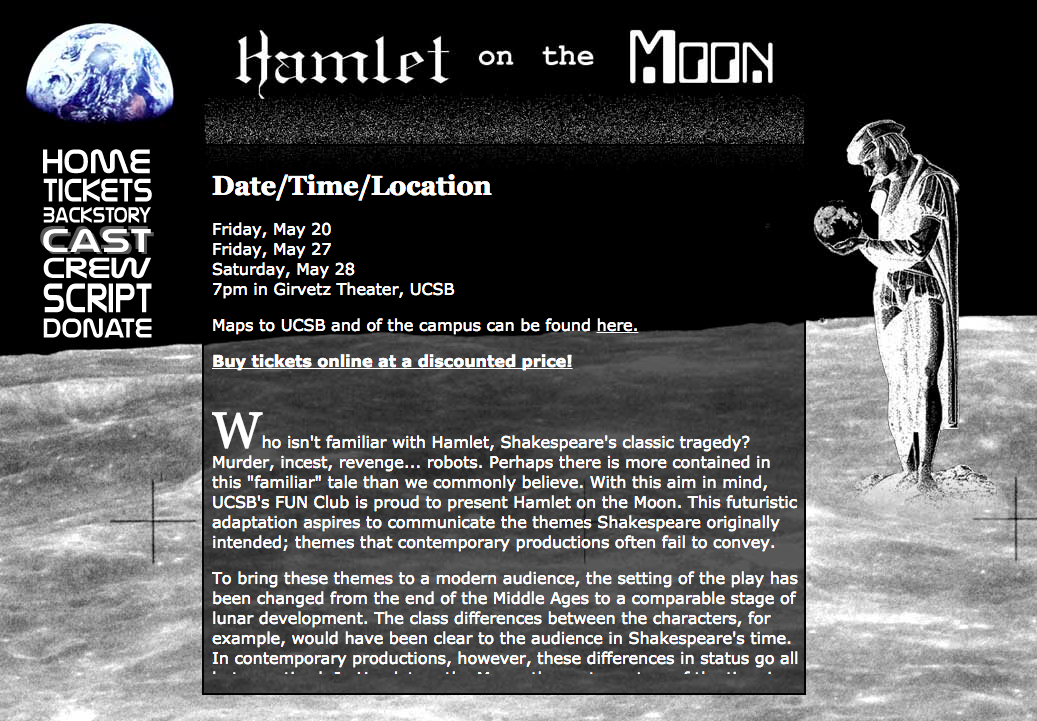 Hamlet on the Moon homepage
