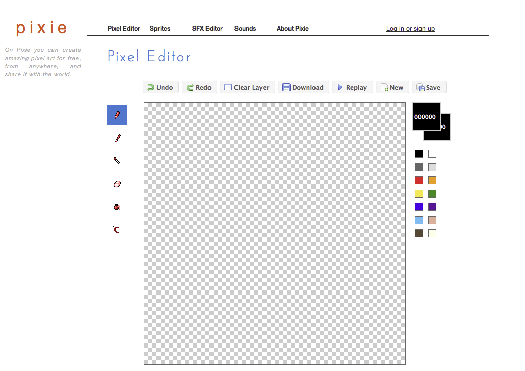 Pixie pixel editor