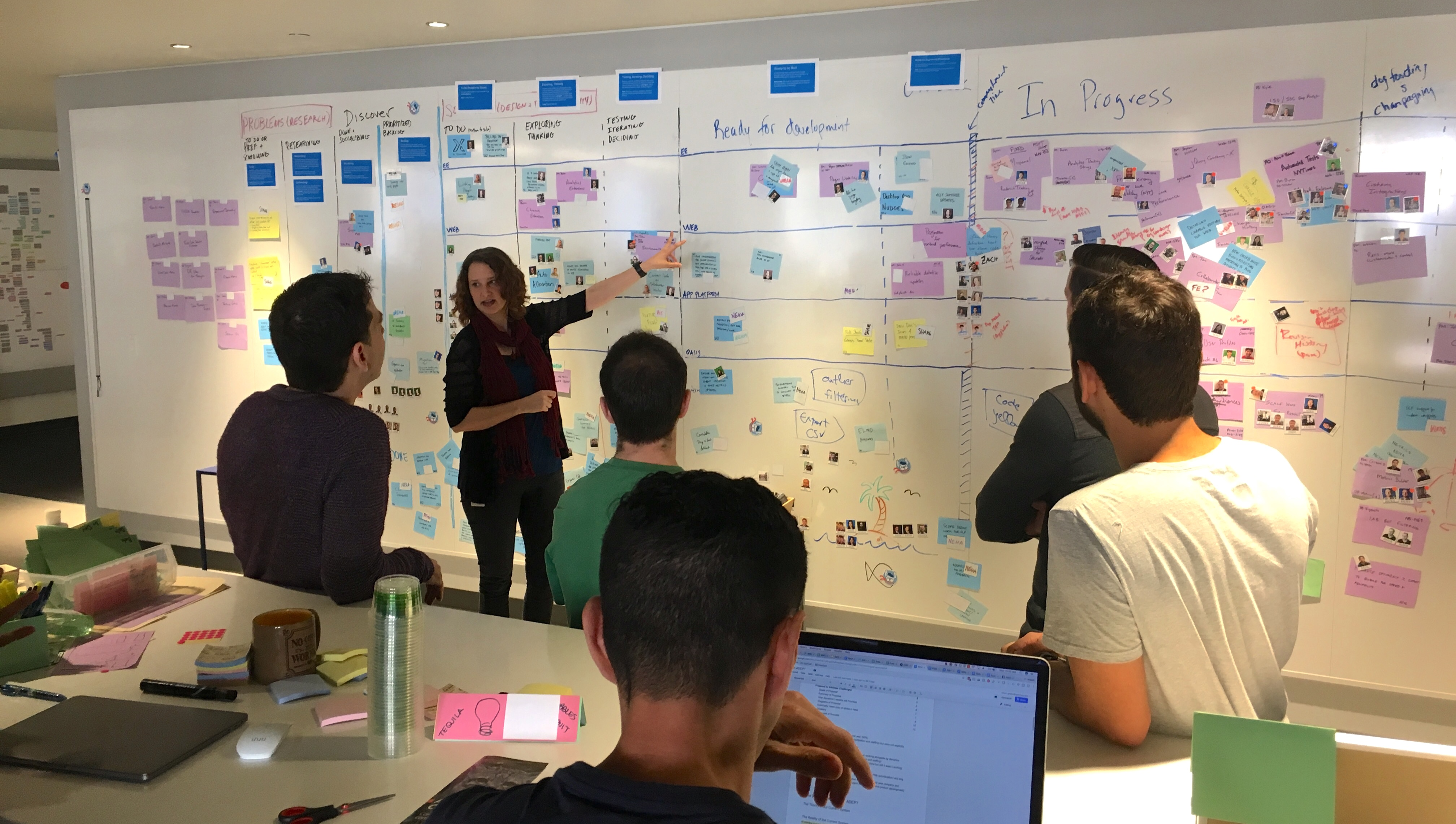 """Optimizely's Discovery kanban board in action"""